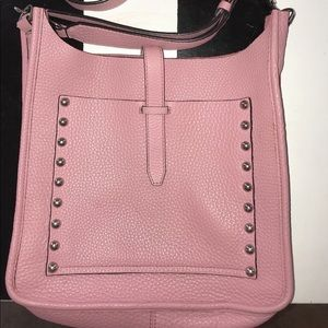 Rebecca Minkoff large unlined feed bag pink